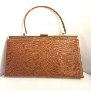 Ande Faux Crocodile Vintage Clutch / Handbag
